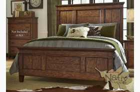 Rocky Mountain Whiskey Brown Panel Bed
