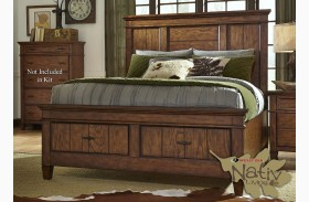 Rocky Mountain Whiskey Brown Storage Panel Bed