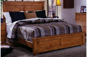 Diego Cinnamon Pine Panel Bed