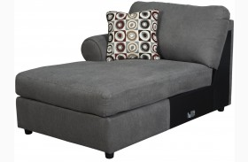 Jayceon Gray Finish LAF Corner Chaise