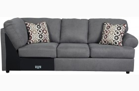 Jayceon Gray Finish RAF Sofa