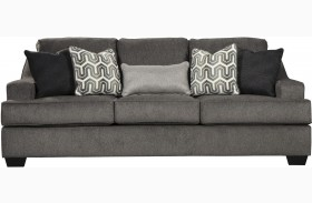 Gilmer Gunmetal Finish Sofa