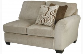 Hazes Fleece Finish RAF Loveseat