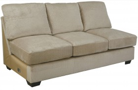 Hazes Fleece Finish Armless Sofa