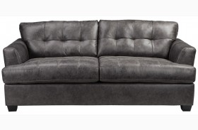 Inmon Charcoal Finish Sofa