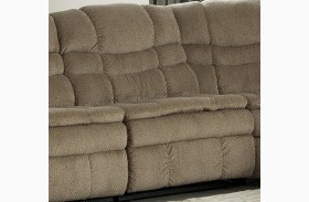 Zavion Beige Finish Armless Recliner