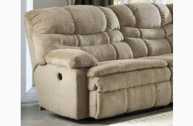 Zavion Beige Finish LAF Zero Wall Recliner