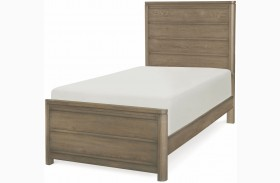 Big Sky by Wendy Bellissimo Weathered Oak Youth Panel Bed
