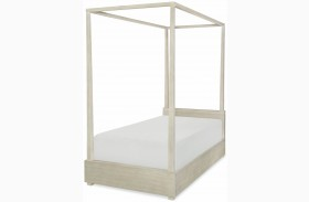 Indio by Wendy Bellissimo White Sand Youth Canopy Poster Bed