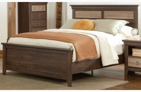 Weatherly Textured Two-Tone Youth Panel Bed