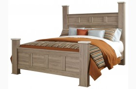 Stonehill Weathered Oak Poster Bed