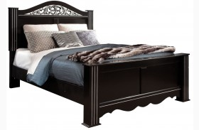 Odessa Black Poster Bed