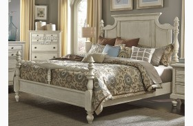 High Country White Poster Bed