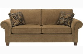 Travis Walnut Chenille Fabric Sofa