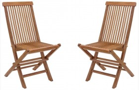 Regatta Natural Finish Folding Chair Set of 2