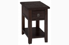Kona Gove Rustic Chocolate Finish Chairside Table