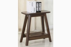 Chestnut Finish Accent End Table