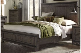 Thornwood Hills Rock Beaten Gray Panel Bed