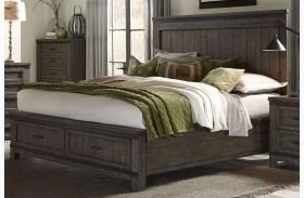 Thornwood Hills Rock Beaten Gray Panel Storage Bed