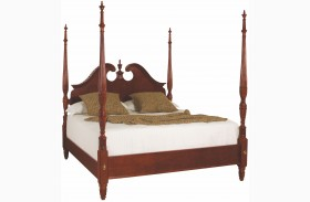 Cherry Grove Classic Antique Cherry Pediment Poster Bed