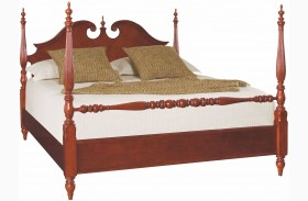 Cherry Grove Classic Antique Cherry Low Poster Bed