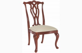 Cherry Grove Classic Antique Cherry Pierced Back Dining Side Chair Set of 2