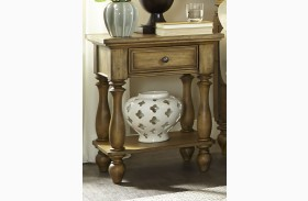 High Country Honey Finish Chair Side Nightstand
