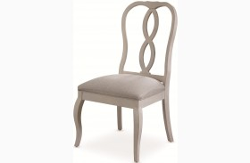 White Peony Blanc White Fnish Fern Side Chair