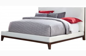 Couture White Upholstered Platform Bed
