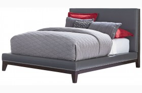 Couture Grey Upholstered Platform Bed