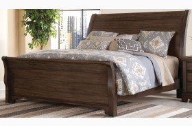 Whiskey Barrel Dark Roast Sleigh Bed