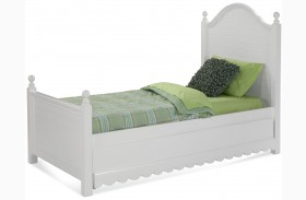 Jasmine White Youth Poster Bed