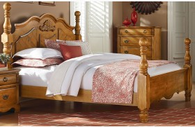Georgetown Golden Honey Pine Poster Bed