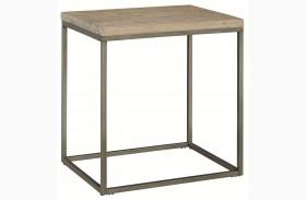 Alana Acacia Wood Rectangular End Table