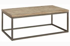 Alana Acacia Wood Rectangular Coffee Table