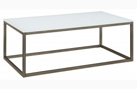 Alana Frosted Glass  Rectangular Coffee Table