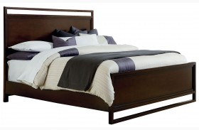 Manhattan Deep Coffee Panel Bed
