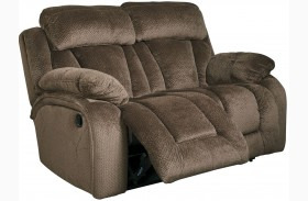 Stricklin Brown Finish Reclining Loveseat