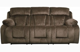 Stricklin Brown Finish Reclining Sofa