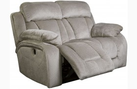 Stricklin Pebble Finish Reclining Loveseat