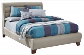 Amanoi Warm Mink Upholstered Bed