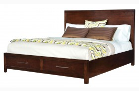 Metro Dark Merlot Panel Storage Bed