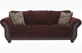 Chesterbrook Burgundy Finish Sofa