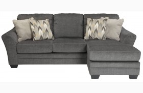 Braxlin Charcoal Finish Sofa Chaise