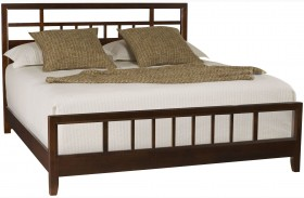 Tribecca Root Beer Finish Slat Bed