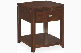 Tribecca Root Beer Finish End Table