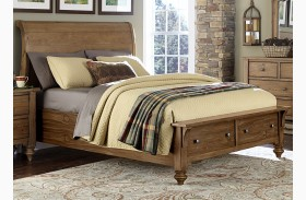 Southern Pines II Sleigh Storage Bed
