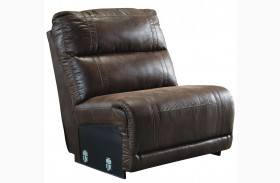 Luttrell Espresso Finish Armless Recliner