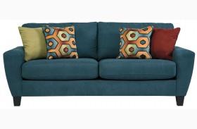 Sagen Teal Finish Sofa
