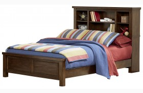 Cameron Youth Warm Tobacco Brown Bookcase Bed